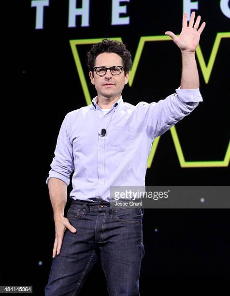 Director JJ Abrams of STAR WARS THE FORCE AWAKENS took part today in Worlds Galaxies and Universes Live Action at The Walt Disney Studios...