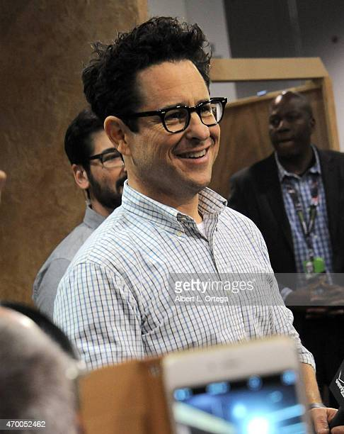 Director JJ Abrams promotes 'Star Wars The Force Awakens' on Day One of Disney's 2015 Star Wars Celebration held at the Anaheim Convention Center on...