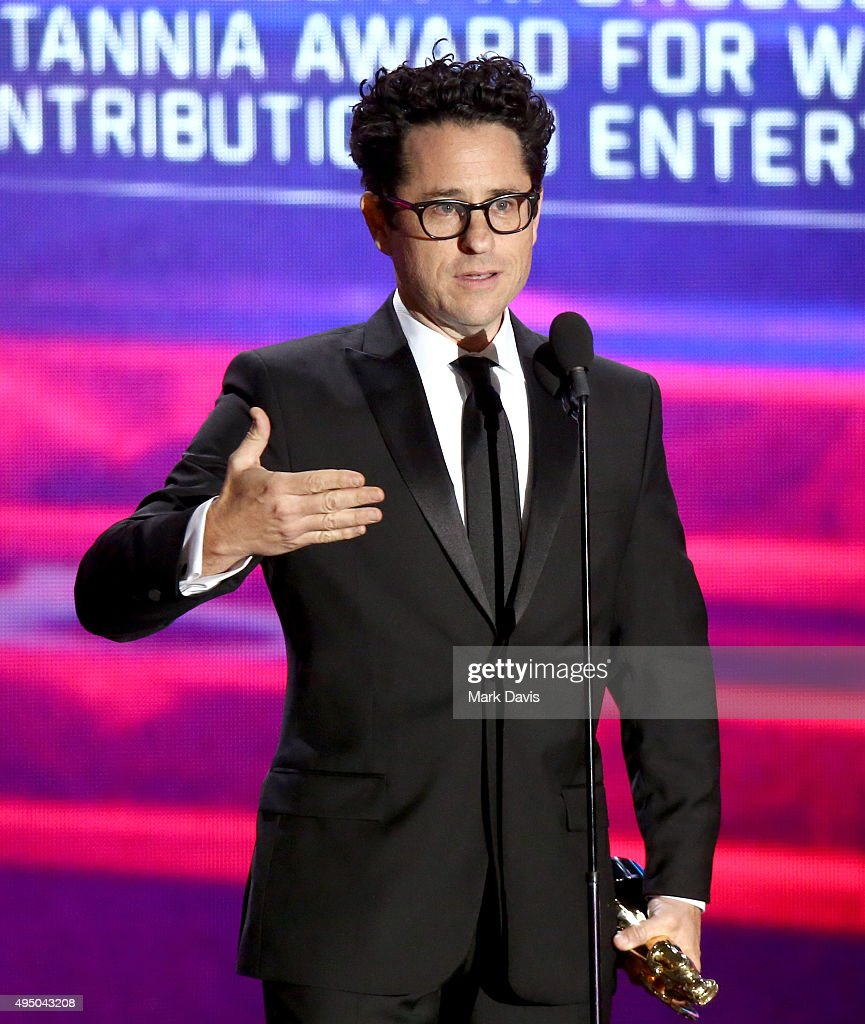 Director J.J. Abrams speaks onstage during the 2015 Jaguar Land Rover British Academy Britannia Awards presented by American Airlines at The Beverly Hilton Hotel on October 30, 2015 in Beverly Hills, California.