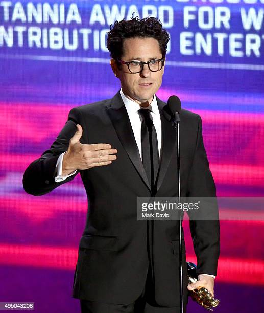 Director JJ Abrams speaks onstage during the 2015 Jaguar Land Rover British Academy Britannia Awards presented by American Airlines at The Beverly...