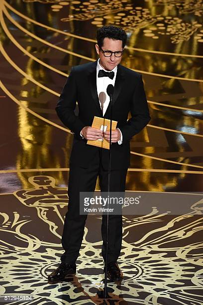 Director JJ Abrams speaks onstage during the 88th Annual Academy Awards at the Dolby Theatre on February 28 2016 in Hollywood California