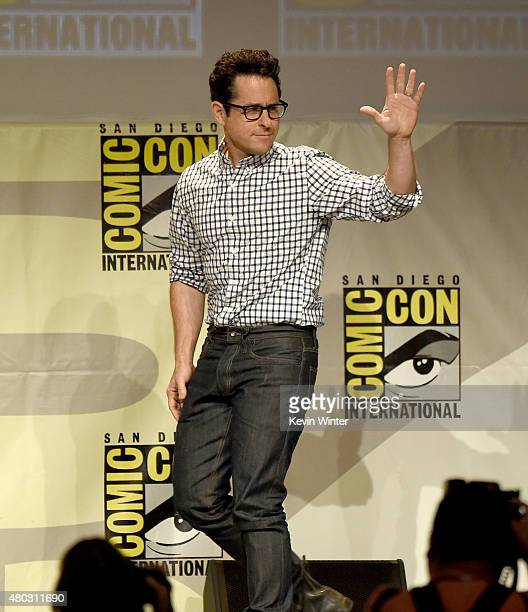 Director JJ Abrams walks onstage at the Lucasfilm panel during ComicCon International 2015 at the San Diego Convention Center on July 10 2015 in San...