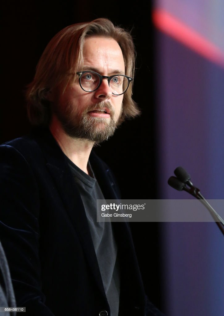 Director Joachim Ronning, co-recipient of the International Filmmakers of the Year award for the movie 'Pirates of the Caribbean: Dead Men Tell No Tales,' speaks during the International Day Lunch at CinemaCon at Caesars Palace on March 27, 2017 in Las Vegas, United States.