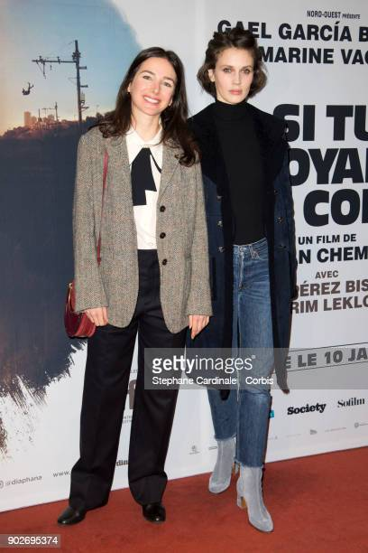 Director Joan Chemla and actress Marine Vacth attend the Si Tu Voyais Son Coeur Paris Premiere at UGC Cine Cite des Halles on January 8 2018 in Paris...