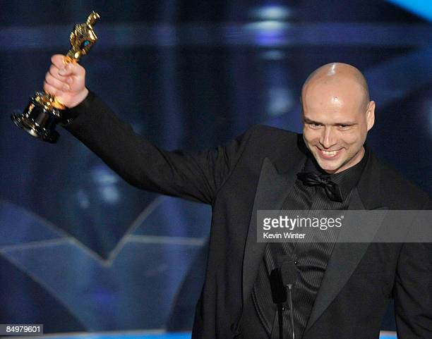 "Director Jochen Alexander Freydank accepts the Best Live Action Short Film award for ""Toyland"" during the 81st Annual Academy Awards held at Kodak..."