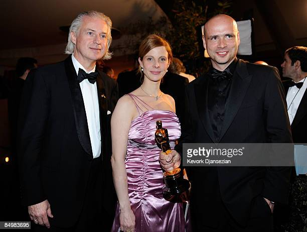 "Director Jochen Alexander Freydank , winner of the Best Live Action Short Film award for ""Toyland"" , actress Julia Jaeger and guest attend the 81st..."