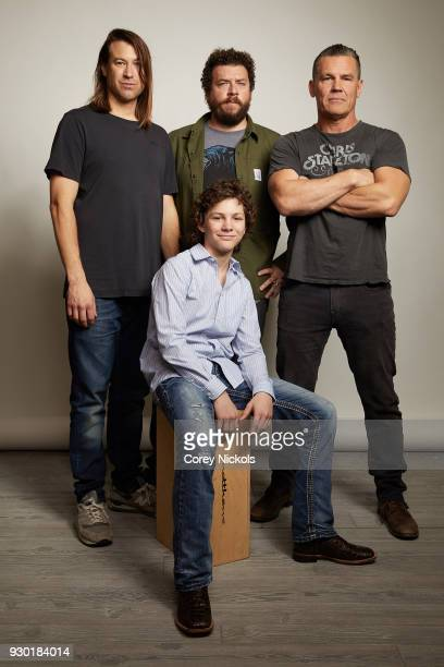 Director Jody Hill Actors Montana Jordan Danny McBride and Josh Brolin from the film The Legacy of a Whitetail Deer Hunter poses for a portrait in...