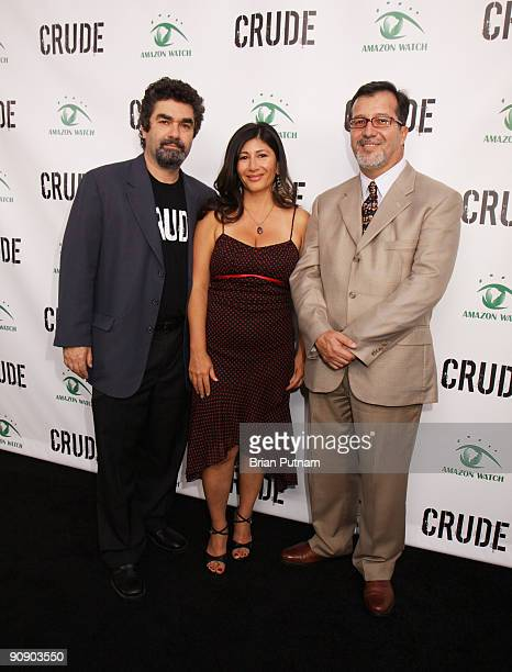 Director Joe Berlinger 'Amazon Watch' director Atossa Soltani and General Consul of Ecuador Dr Fernando Chaves arrive for the screening of the film...