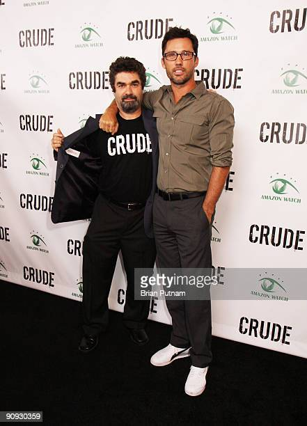 Director Joe Berlinger and actor Jeffrey Donovan arrive for the screening of the film 'CRUDE' at Harmony Gold Theatre on September 17 2009 in Los...