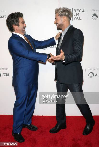 """Director Joe Berlinger and actor Zac Efron attend the screening of """"Extremely Wicked, Shockingly Evil and Vile"""" during the 2019 Tribeca Film Festival..."""