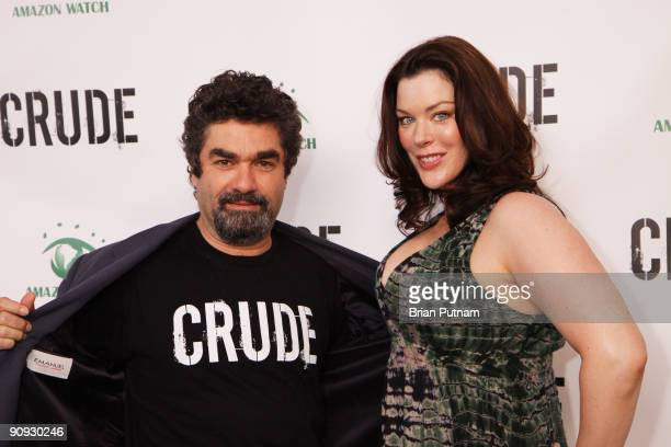 Director Joe Berlinger and actress Kim Director arrive for the screening of the film 'CRUDE' at Harmony Gold Theatre on September 17 2009 in Los...