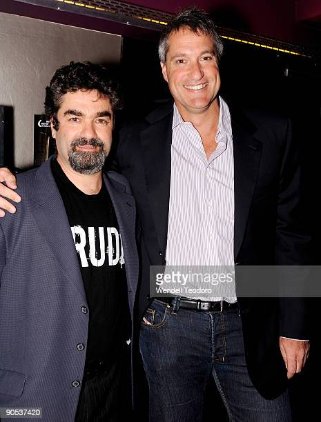 Director Joe Berlinger and attorney Steven Donziger attend the New York premiere of Crude at the IFC Center on September 9 2009 in New York City