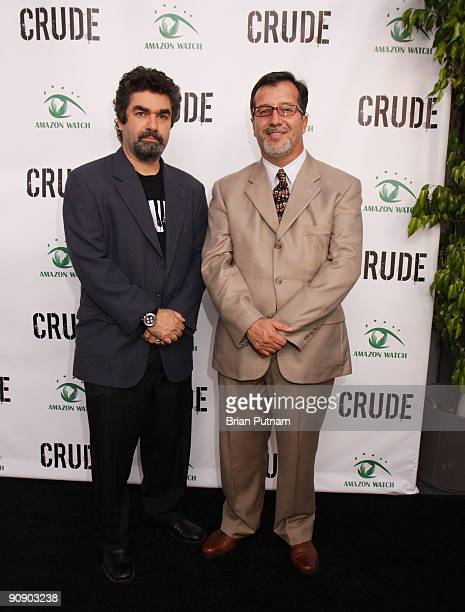 Director Joe Berlinger and 'Ecuador Consul General' Dr Fernando Chaves arrives for the screening of the film 'CRUDE' at Harmony Gold Theatre on...
