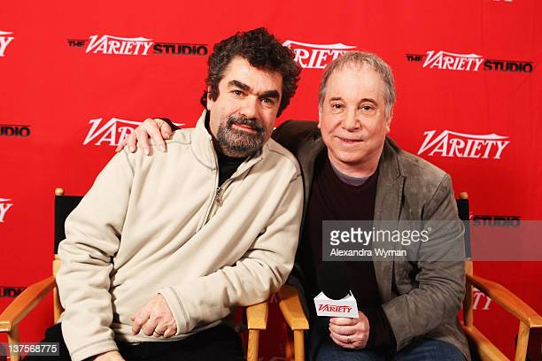 Director Joe Berlinger and Paul Simon attend Day 2 of the Variety Studio during the 2012 Sundance Film Festival held at Variety Studio At Sundance on...