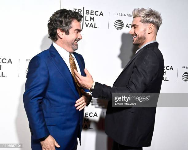 """Director Joe Berlinger and Zac Efron attend Netflix's """"Extremely Wicked, Shockingly Evil and Vile"""" Tribeca Film Festival Premiere at BMCC Tribeca..."""