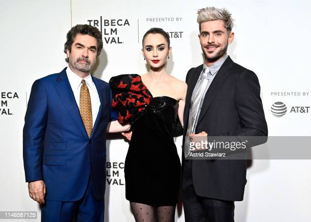 """Director Joe Berlinger, Lily Collins and Zac Efron attend Netflix's """"Extremely Wicked, Shockingly Evil and Vile"""" Tribeca Film Festival Premiere at..."""