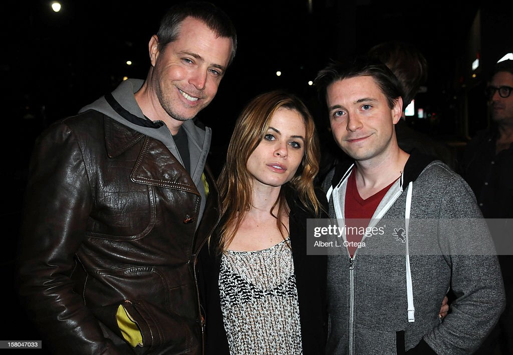 Director Joe Eddy, actress Augie Duke and actor Bob Steinmiller arrive for the Screening Of 'Bad Kids Go To Hell' held at Laemmle Music Hall Theater on December 7, 2012 in Beverly Hills, California.
