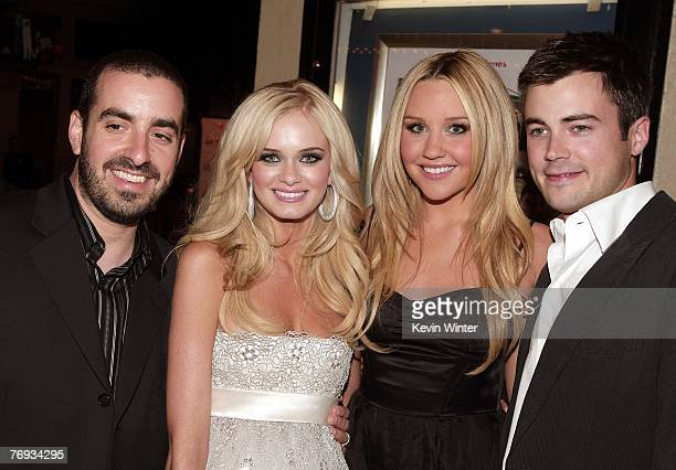 Director Joe Nussbaum actors Sara Paxton Amanda Bynes and Matt Long pose at the premiere of Universal Pictures and Morgan Creek Production's Sydney...