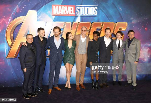Director Joe Russo actors Sebastian Stan Tom Hiddleston Elizabeth Olsen Paul Bettany Letitia Wright Benedict Cumberbatch Tom Holland and director...