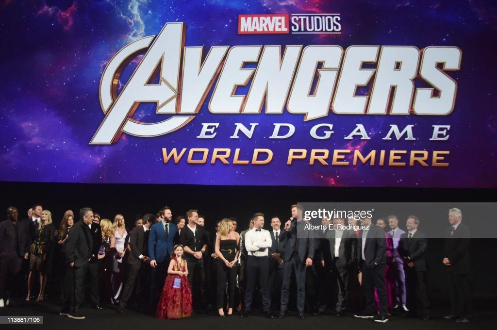 "Los Angeles World Premiere Of Marvel Studios' ""Avengers: Endgame"" : Fotografia de notícias"