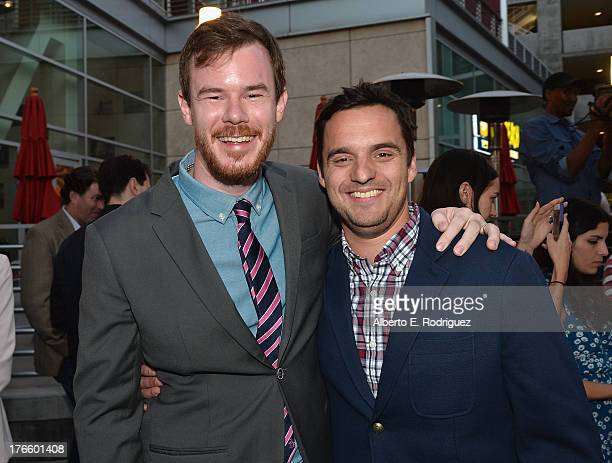 Director Joe Swanberg and actor Jake Johnson arrive for the screening of Magnolia Pictures' 'Drinking Buddies' at Umami Burger Hollywood on August 15...