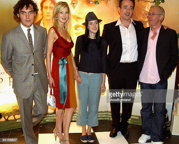 Director Joe White actors Rosamund Pike Jena Malone Matthew McFadyen and producer Paul Webster attend the Irish Premiere of Pride and Prejudice in...