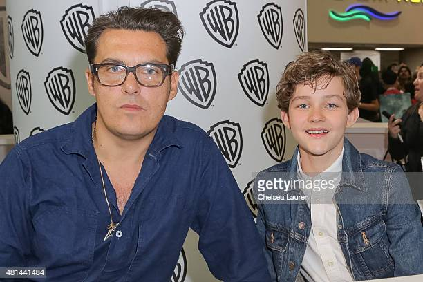 Director Joe Wright and actor Levi Miller attend a signing for 'Pan' at ComicCon International on July 11 2015 in San Diego California