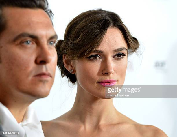 Director Joe Wright and actress Keira Knightley attend the premiere of Focus Features' 'Anna Karenina' held at ArcLight Cinemas on November 14 2012...