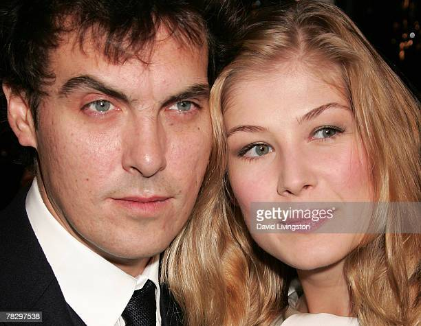 Director Joe Wright and actress Rosamund Pike attend the premiere of Focus Features' 'Atonement' at the Academy of Motion Picture Arts and Sciences...