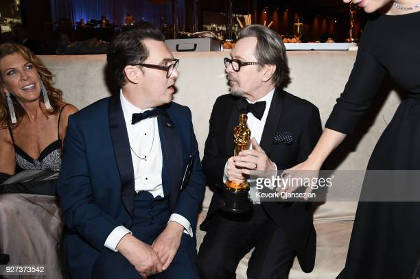 Director Joe Wright and Gary Oldman winner of Best Actor for Darkest Hour attend the 90th Annual Academy Awards Governors Ball at Hollywood Highland...