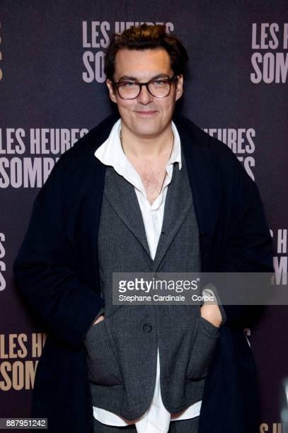 Director Joe Wright attends the Darkest Hour Les Heures Sombres Paris Premiere at UGC Cine Cite des Halles on December 7 2017 in Paris France
