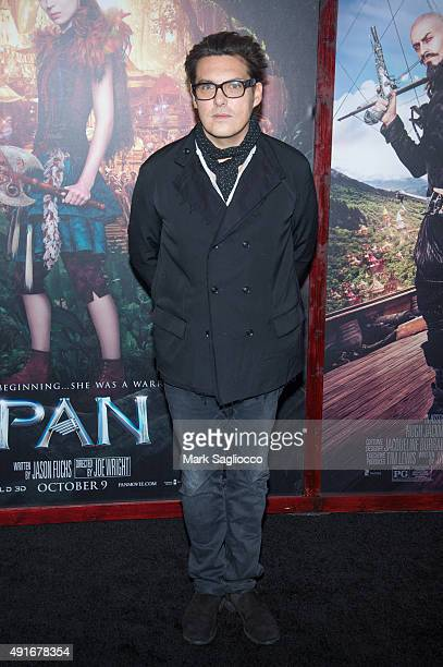 Director Joe Wright attends the Pan New York Premiere at the Ziegfeld Theater on October 4 2015 in New York City