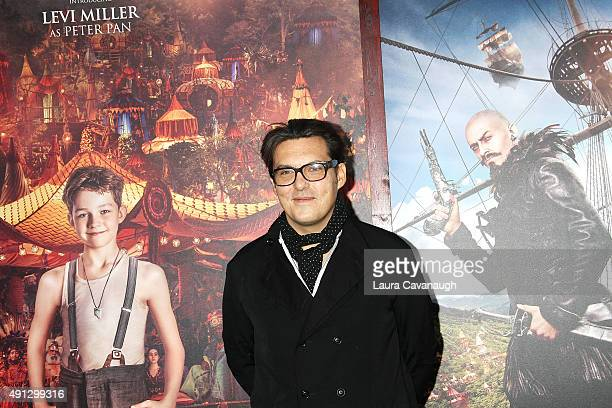 Director Joe Wright attends the Pan New York Premiere Outside Arrivals at Ziegfeld Theater on October 4 2015 in New York City