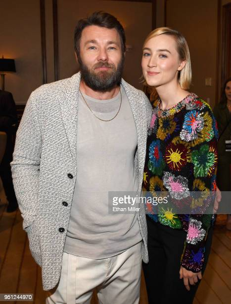 Director Joel Edgerton and actor Saoirse Ronan attend the CinemaCon 2018 Focus Features Presentation at Caesars Palace during CinemaCon the official...