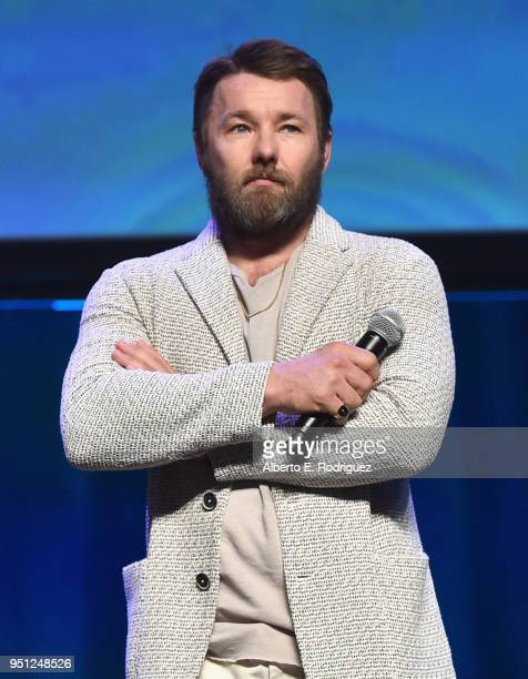 Director Joel Edgerton Hedges speaks onstage during the CinemaCon 2018 Focus Features Presentation at Caesars Palace during CinemaCon the official...