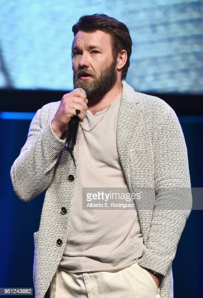 Director Joel Edgerton speaks onstage during the CinemaCon 2018 Focus Features Presentation at Caesars Palace during CinemaCon the official...