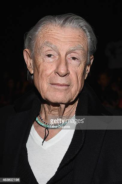 Director Joel Schumacher attends the Anna Sui fashion show during MercedesBenz Fashion Week Fall 2015 at The Theatre at Lincoln Center on February 18...