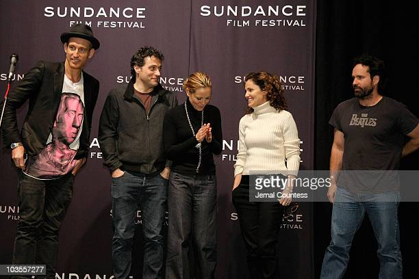 Director Johan Renck and actors Rufus Sewell Maria Bello Amy Brenneman and Jason Patric attend a screening of 'Downloading Nancy' at the Racquet Club...