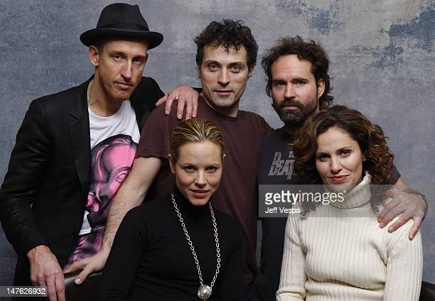 Director Johan Renk Actor Rufus Sewell Actress Maria Bello Actor Jason Patric and Actress Amy Brenneman at the Sky 360 by Delta Lounge WireImage...
