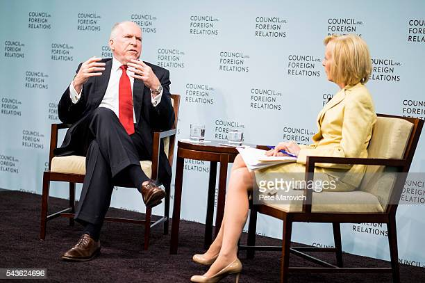 Director John Brennan and Judy Woodruff coanchor and managing editor of PBS' Newshour discuss instability and transnational threats to global...