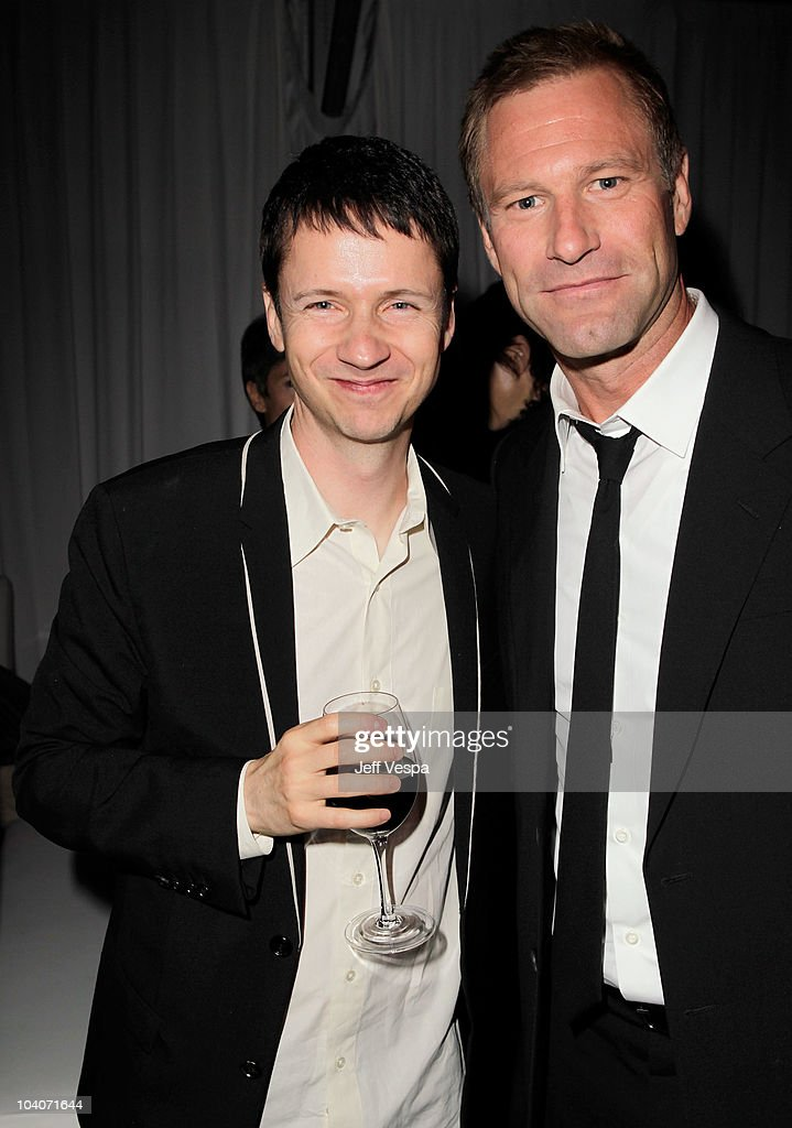 Director John Cameron Mitchell L And Actor Aaron Eckhart Attend The Rabbit Hole