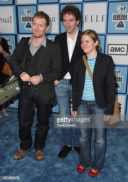 Director John Carney with actormusicians Glen Hansard and Marketa Irglova arrive at the 2008 Film Independent's Spirit Awards at the Santa Monica...