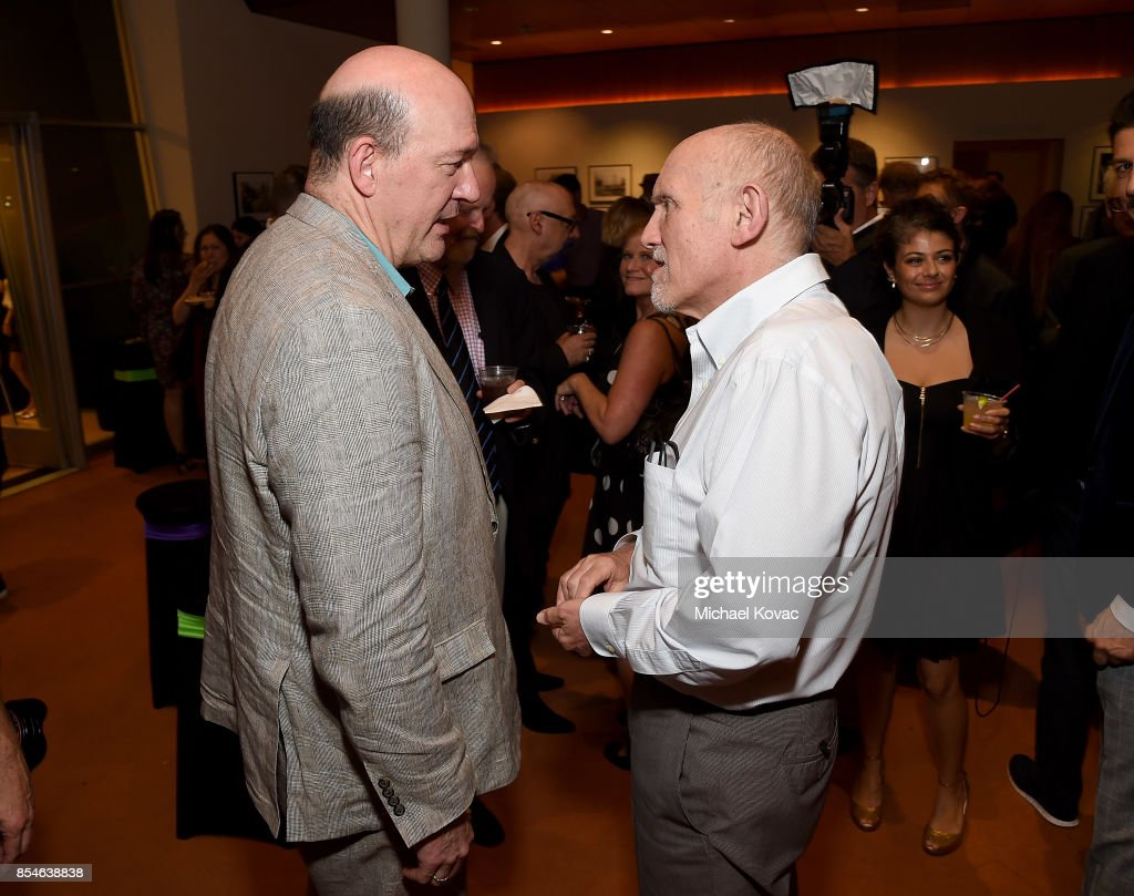 Director John Caroll Lynch (L) and actor Armin Shimerman attend the after party for the Los Angeles premiere of 'Lucky' at Linwood Dunn Theater on September 26, 2017 in Los Angeles, California.