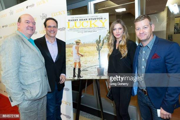 Director John Caroll Lynch and Actors Diedrich Bader Nic Bishop and Jes Macallan attend the premiere of Magnolia Pictures' 'Lucky' at Linwood Dunn...