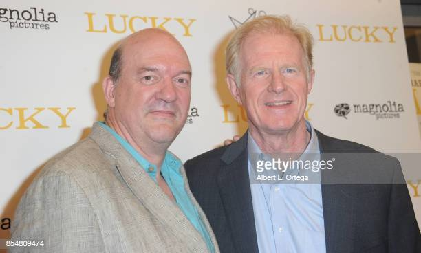 Director John Carroll Lynch and actor Ed Begley Jr arrive for the Premiere Of Magnolia Pictures' 'Lucky' held at Linwood Dunn Theater on September 26...