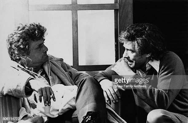 Director John Cassavetes and Actor Peter Falk in 1972 during the filming of A Woman Under the Influence in Los Angeles California