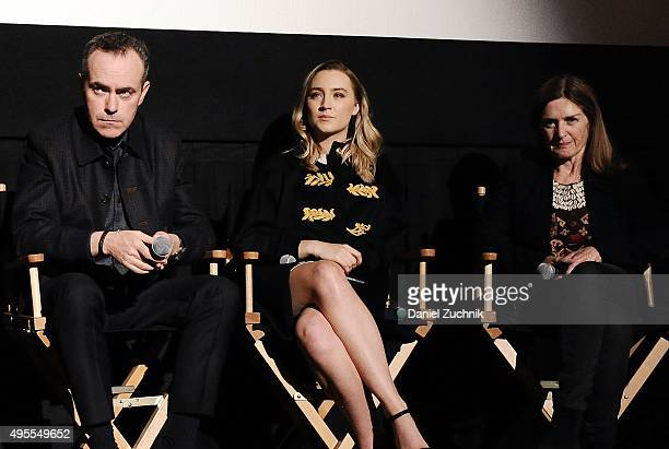 Director John Crowley actress Saoirse Ronan and producer Finola Dwyer attend the Brooklyn New York Premiere at AMC Loews Lincoln Square on November 3...