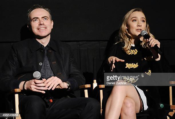 Director John Crowley and actress Saoirse Ronan attend the Brooklyn New York Premiere at AMC Loews Lincoln Square on November 3 2015 in New York City