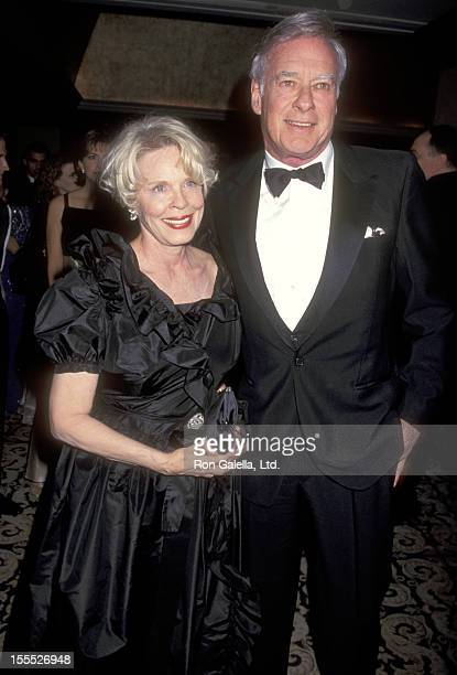 Director John Frankenheimer and wife Evans Evans attend the 49th Annual Directors Guild of America Awards on March 9 1997 at Century Plaza Hotel in...