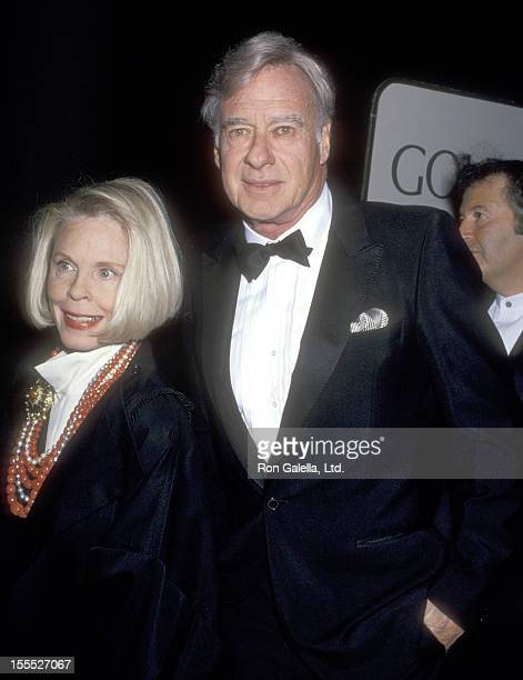 Director John Frankenheimer and wife Evans Evans attend the 52nd Annual Golden Globe Awards on January 21 1995 at Beverly Hilton Hotel in Beverly...